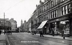 Greens End, Woolwich, London, Looking south from Beresford Square the tall building in the distance is the Town Hall circa London Photography, Vintage Photography, London History, Old Street, Old London, Historical Pictures, Colour Images, Old Photos, Places To Visit
