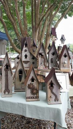 Manly birdhouses..... find these and more on facebook and etsy at Recycling is for the Birds