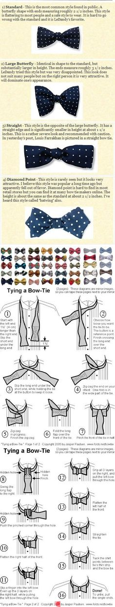 bow-tie 'how-to'...you need to know this stuff also....no fake go for the real...women dig the real thing..makes ya think of James Bond and all the sexy movies were we un-tie the tie..swoon.....