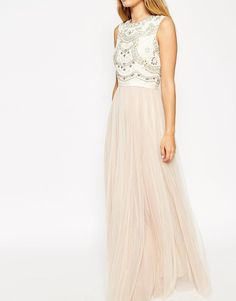 Needle & Thread | Needle & Thread Embellished Lace Bodice Evening Dress at ASOS