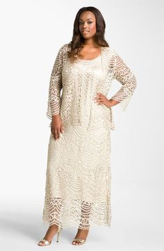 Soulmates Crochet Dress & Jacket (Plus Size)- Very Downton Abbey dress style. Perfect for summer weddings and parties.