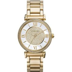 nice Catlin Mother of Pearl Dial Gold-plated Ladies Watch MK3332 - For Sale