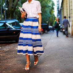 Wear a white shirt back with a skirt for an androgynous look. www.stylestaples.com.au