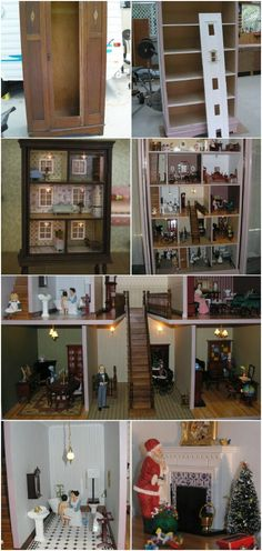 Dresser Dollhouse - Every little girl loves dollhouses. Unfortunately for us parents, those aren't the least expensive toys, especially for really large ones. On a good note, I've found a list of 6 great ways that you can build your own dollhouses, and the great part is they're re-purposed from dressers and other furniture so there's actually very little building involved. #diy #reuse #upcycle #cute #decor