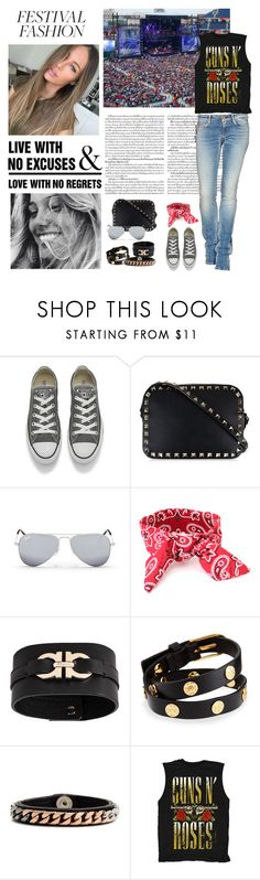 """""""Good Vibes Only: Festival Fashion"""" by dezaval ❤ liked on Polyvore featuring Converse, Valentino, Ray-Ban, Salvatore Ferragamo, Tory Burch, WALL, Vita Fede and Murphy"""
