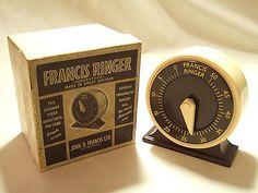 The Francis Ringer Vintage Kitchen Timer, John D Francis, Mint Boxed