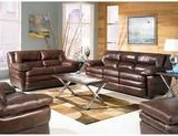 Marshall Collection  Chestnut 100% Leather Sofa