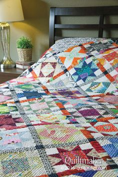 Nancy's Closet quilt pattern: This lovely king-sized scrap quilt designed by Kathryn Wagar Wright will put a serious dent in your fabric stash!