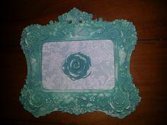 Quadrinho Moldura de Gesso com tecido Sweet Blue  TalitArtes  www.talitartes.com.br contato@talitartes.com.br www.facebook.com/TalitArtesedecoracoes
