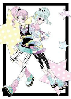 Pastel twins
