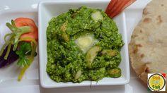 Lehsuni Palak Ka Saag - Garlic Spinach Curry - By VahChef @ VahRehVah.com