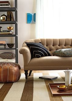 Slim and beautifully tailored, the Paxton love seat and sofa ($1,995-$2,450) are especially ideal for small space living.