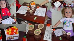 Thanksgiving Party Table Doll Printables