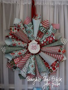 Thoughts That Stick..... : Nordic Noel Paper Wreath