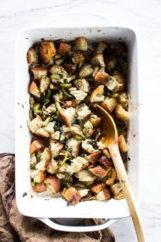 Flourishing Foodie: Vegetarian Stuffing with #Broccoli Rabe