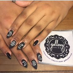 From simple to over the top, here are 54 of the best and most beautiful witch nail art ideas ever magicked into being. Square Nail Designs, Grey Nail Designs, Short Nail Designs, Art Designs, Edgy Nails, Cute Nails, Grunge Nails, Stiletto Nails, Pretty Nails