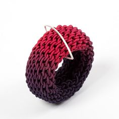 ombre plum curved tug cuff by gilly langton