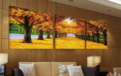 $17.99 ASIA MODERN ABSTRACT WALL ART PAINTING ON CANVAS NEW Style ! (NO FRAME)with The morning Golden Road