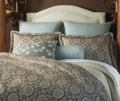 Like this fabric, too.  Peacock Alley Olympia Duvet Cover | Gracious Style - - duvet covers - - by Gracious Style
