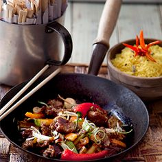 Thai Stir-Fried Beef with Oyster Sauce by Andrew Rudd. | A quick and simple chilli and garlic infused recipe with crunchy stir-fried vegetables.