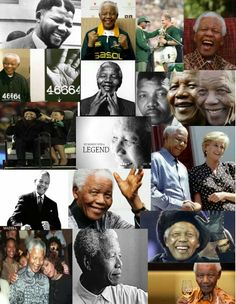 Beautiful collage of Madiba's life. BelAfrique your personal travel planner - www.BelAfrique.com