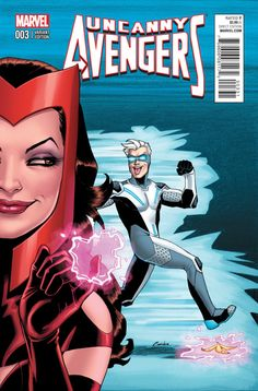 """Amanda Conner - Scarlet Witch and Quicksilver in""""Uncanny Avengers"""""""