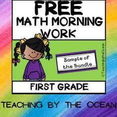 Teaching First Grade, First Grade Math, Second Grade, Math Activities, Teacher Resources, Early Finishers, Free Math, Teacher Favorite Things, Morning Work