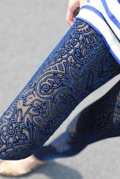 Velvet Legging in Blue