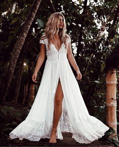 Obsessed with this long white dress