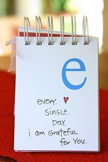 Alphabet gratitude journal