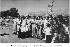 The Maori choir singing a hymn during the memorial service in Crete
