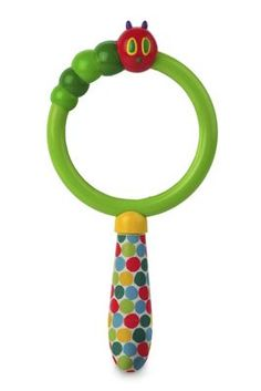 The Very Hungry Caterpillar Magnifying Glass: Wow, look at THAT! This irresistible magnifying glass encourages kids to explore science and nature, closely studying bugs, leaves, and more. Part of The Very Hungry Caterpillar ™ educational toy collection, based on Eric Carle's classic children's books. With a chunky handle, caterpillar accent, and 2.5X lens... Kids Toy Shop, Toys Shop, Outdoor Toys For Kids, Activity Toys, Developmental Toys, Very Hungry Caterpillar, Toy Collector, Magnifying Glass, Cute Baby Clothes