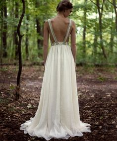 All Seeing Bridal Gown by Mara Hoffman, stunning beaded straps.