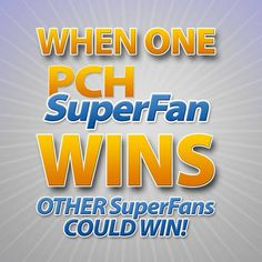 The more PCHSuperFans the better! If one PCHSuperFan wins you also have a chance to #win big! #PCH   Register Here: http://bit.ly/BecomeAPCHsuperfan  Visit the Exclusive PCH.com SuperFan Page: http://bit.ly/_PCHSuperFan_