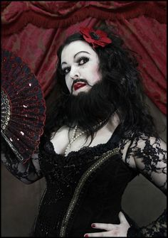 DIY Bearded Lady Halloween Costume Idea 6 Source by maskerix Beard Halloween Costumes, Halloween Circus, Creepy Costumes, Halloween Outfits, Creepy Circus, Creepy Carnival, Carnival Costumes, Freakshow Halloween, Tattoo Flash
