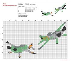 Ned and Zed Disney Planes cross stitch patterns