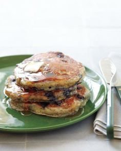 Mother's Day Brunch // Blueberry-Flax Buttermilk Pancakes Recipe