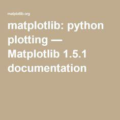 matplotlib: python plotting — Matplotlib 1.5.1 documentation