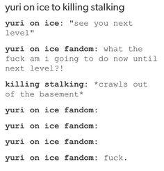 #killingstalking #yurionice #anime #wtf  yuri on ice to killing stalking