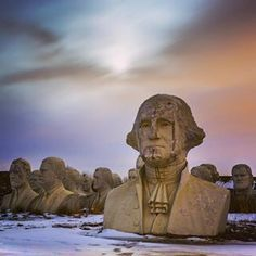 There Are 43 Giant, Crumbling Presidential Heads Sitting In A Virginia Field