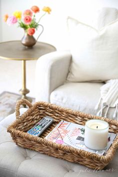 Easy organization ideas that blend with decor