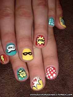 Super fun comic book nails!