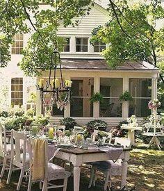 My ideal backyard entertaining.....