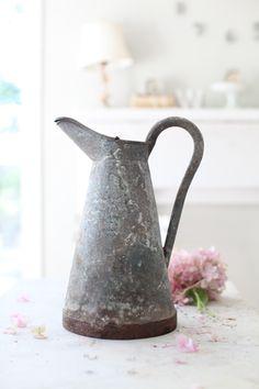 antique french zinc pitcher