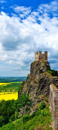 Gothic Ruins of Trosky Castle, Bohemian Paradise Region, Czech Republic Prague, Destinations, Central Europe, Eastern Europe, Czech Republic, Travel Photography, Film Photography, Photography Ideas, Places To See