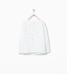 Bluza z aplikacjami z ćwiekami w kształcie serca-Bluzy-Dziewczynka (3-14 lat)-DZIECI | ZARA Polska