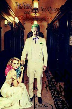 Jared Leto as The Joker Margot Robbie as Harley Quinn The King and the Queen Der Joker, Joker Art, Superman, Batman, Harley Quinn Cosplay, Joker And Harley Quinn, Dc Comics, Kings & Queens, Jared Leto Joker