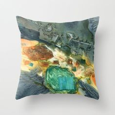 """Abstract Tide Pool II Watercolor Throw Pillow by YevgeniaWatts, $45 for 20"""" x 20"""""""