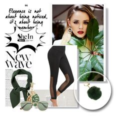 """""""shein"""" by muhiej ❤ liked on Polyvore featuring MICHAEL Michael Kors, Chloé, See by Chloé, Ray-Ban and Anja"""