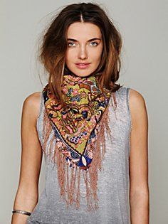 Chakra Fringe Scarf in accessories-scarves-ponchos